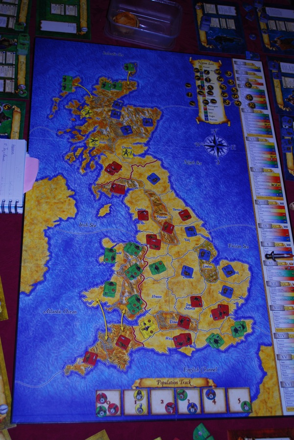 Showing the population ladder but all the armies in Scotland are not spread out.